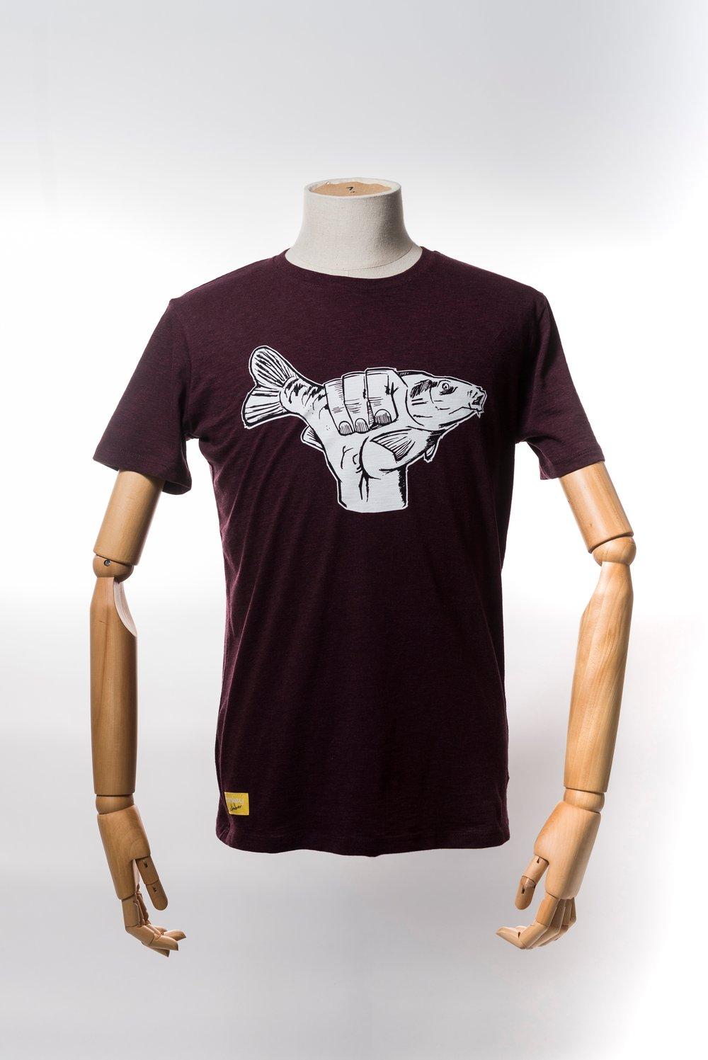 Image of Monkey Climber Carp Shaka shirt I Heather Red - Black - Clay