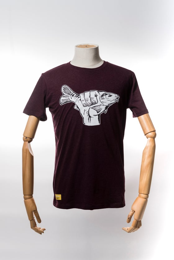 Image of Monkey Climber Carp Shaka shirt I Heather Red - Black - Clay