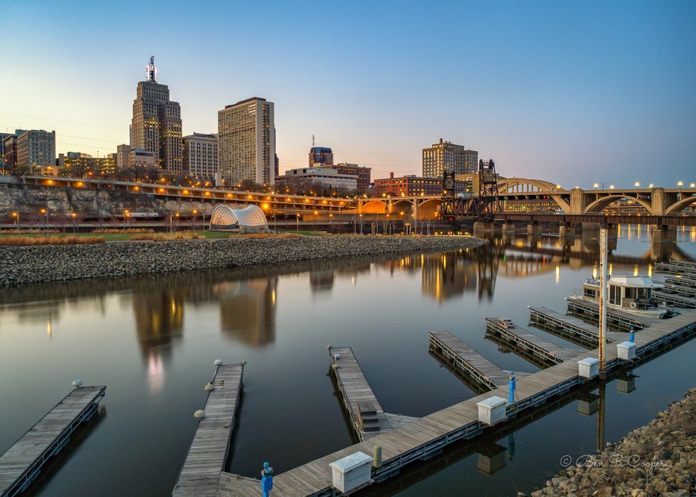 Image of St. Paul Twilight from Harriet Island