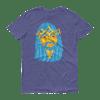 Jesus Peace>Piece Graphic T-Shirt (Electric Blue Edition)