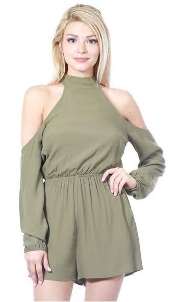 Image of Liv Cold Shoulder Romper