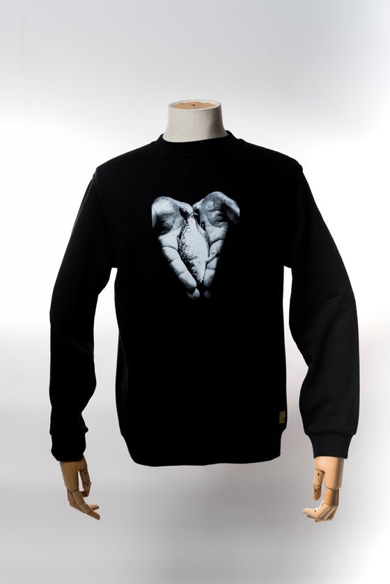Image of Monkey Climber Hand of Hope crewneck I Black