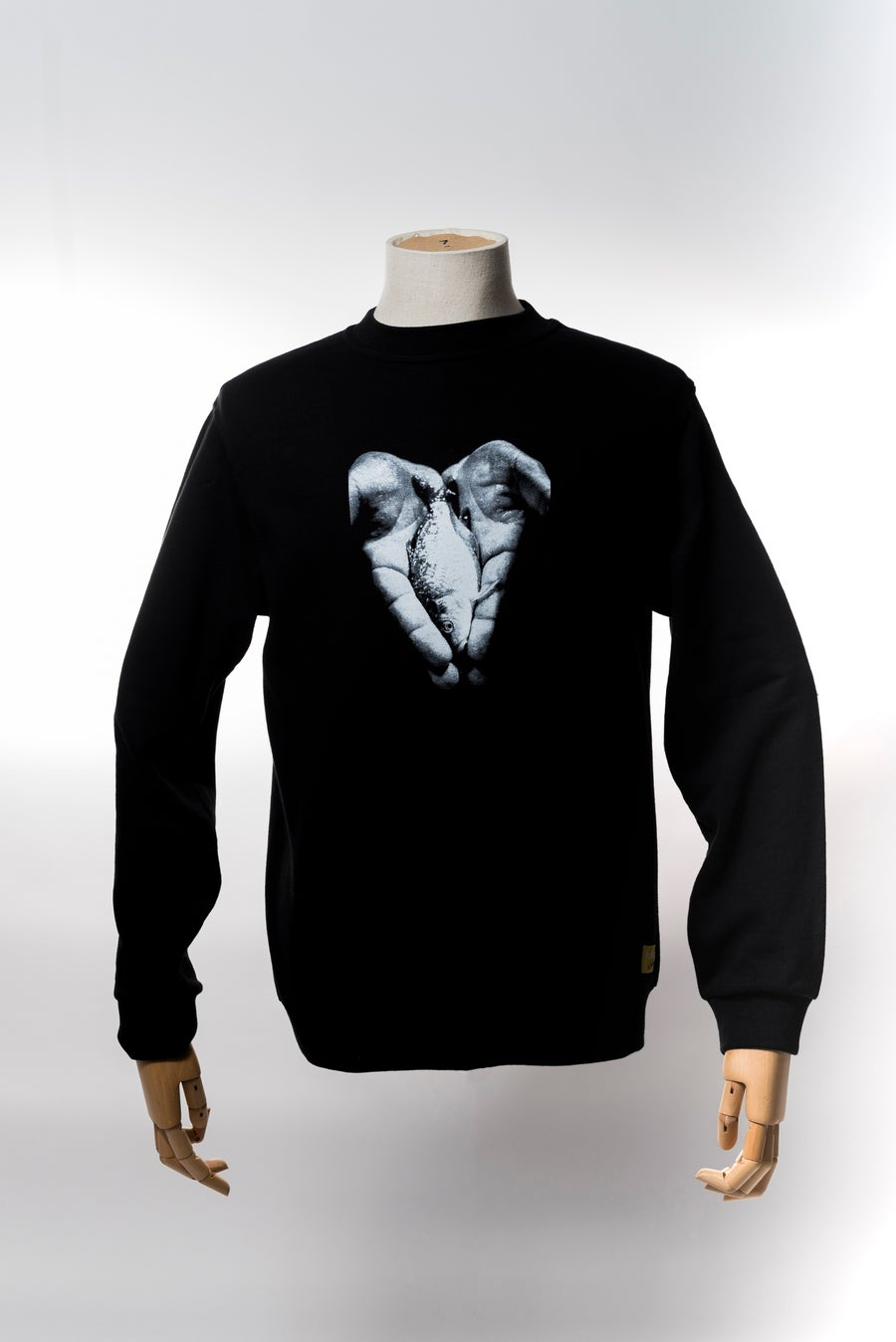 Image of Monkey Climber Hand of Hope crewneck I Black - Burgundy