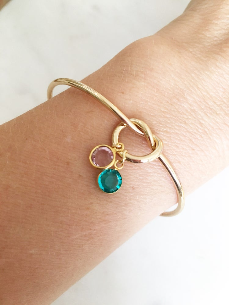 Image of Knot birthstone bangle