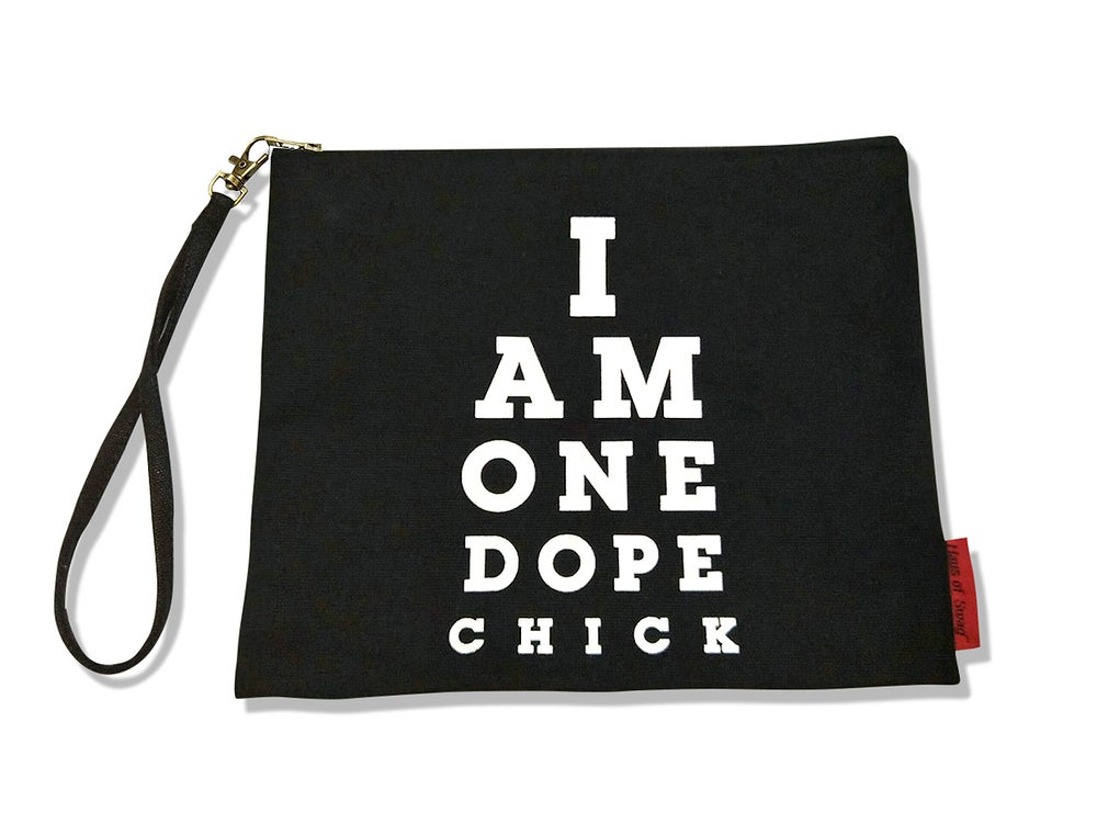 Image of I Am One Dope Chick Canvas Wristlet Clutch