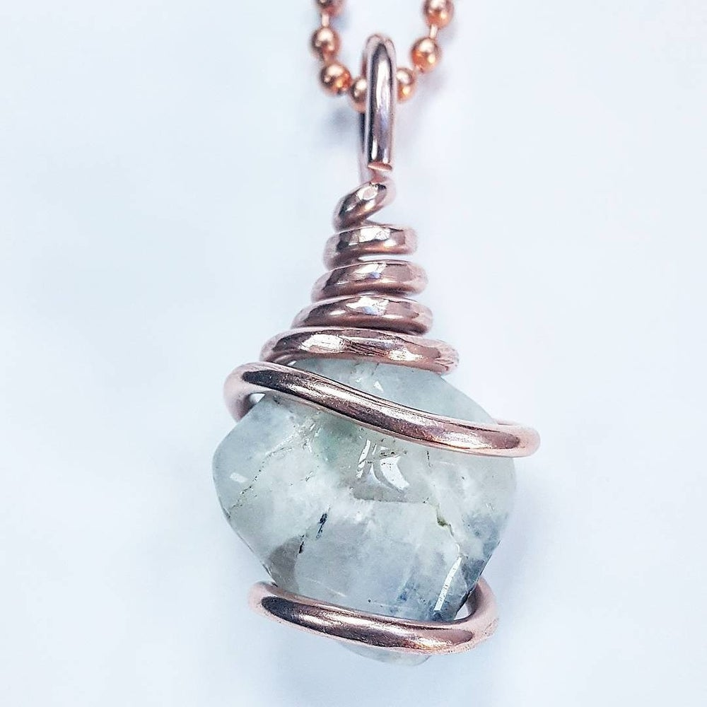 Image of Copper Wrapped Tumbled Moonstone