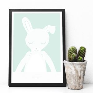Image of Art Print - Bunny / Affordable Art Prints / Kid's room / Present for Baby