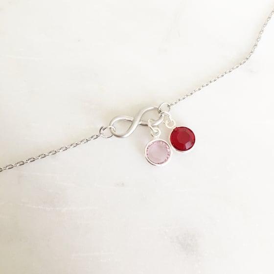 Image of Infinity birthstone bracelet