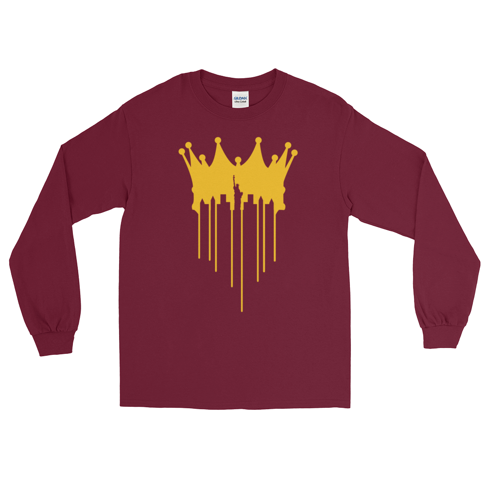 Image of CITY OF KINGZ - BURGUNDY CREWNECK SWEATSHIRT