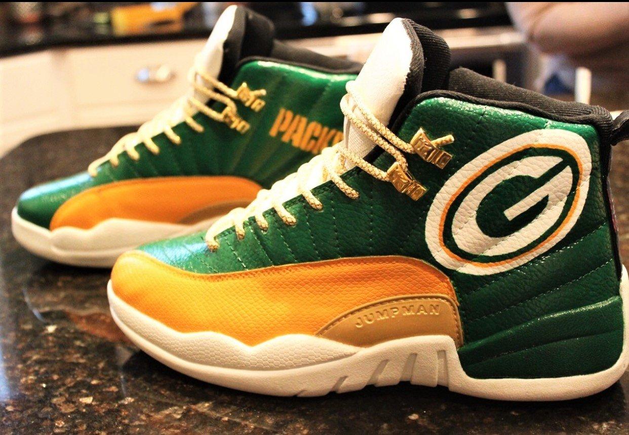 big sale bc603 3e695 Custom NFL Jordan 12s