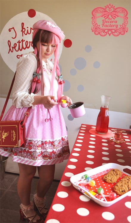 Image of Straw-berry Sweetie Cupcakes Skirt in Pink