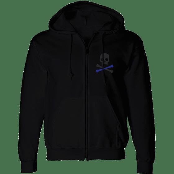 Image of Sonkei Blue Logo Zip Hoodie