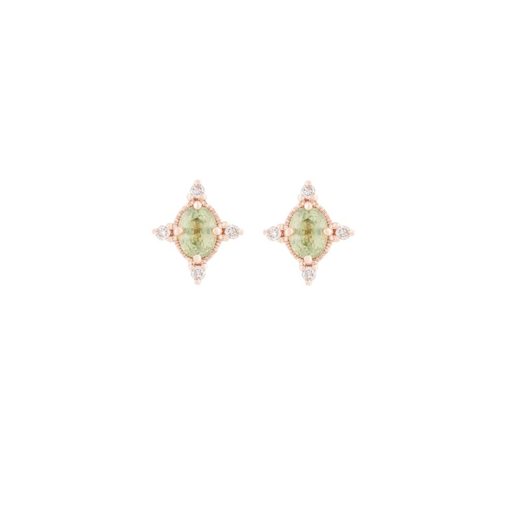 Image of Liz Green Sapphire Earring