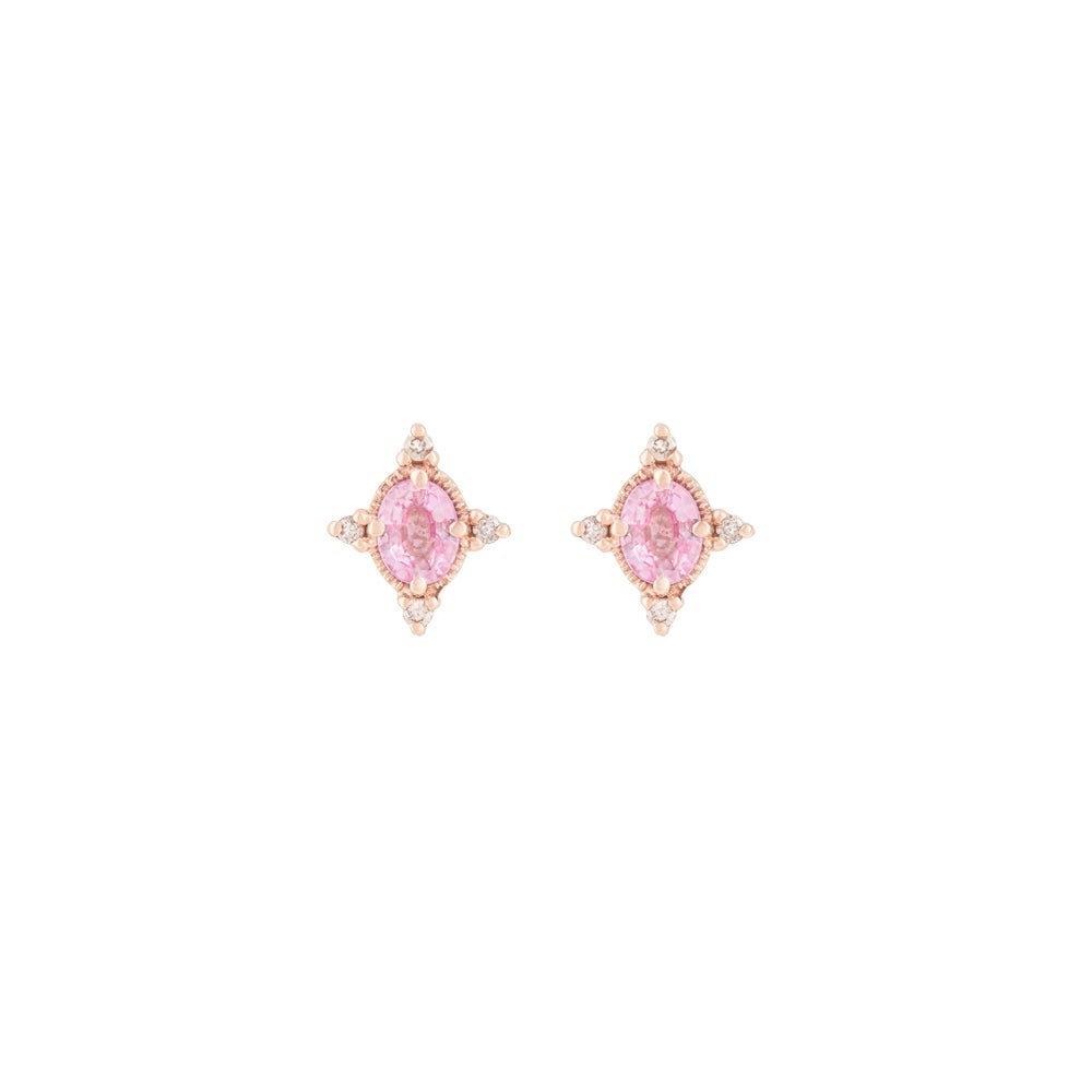Image of Liz Pink Sapphire Earring