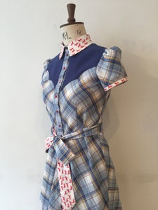 Image of Check shirt dress