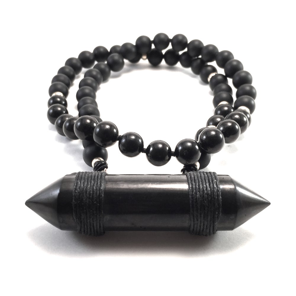 Image of Infinite Purpose Mala. Onyx & Shungite  New!