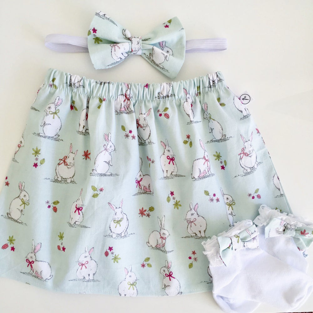 Image of Mint Bunnies Skirt