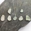 Sea Glass Necklace - genuine sea glass on Sterling silver