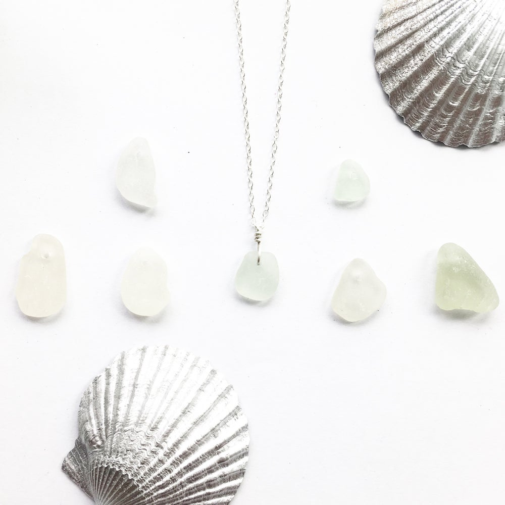 Image of Sea Glass Necklace - genuine sea glass on Sterling silver