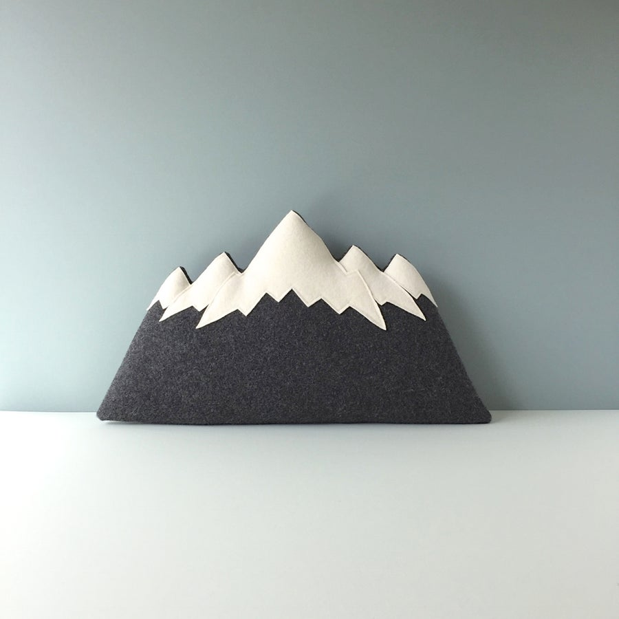 Image of the Tetons - Mountain Pillow
