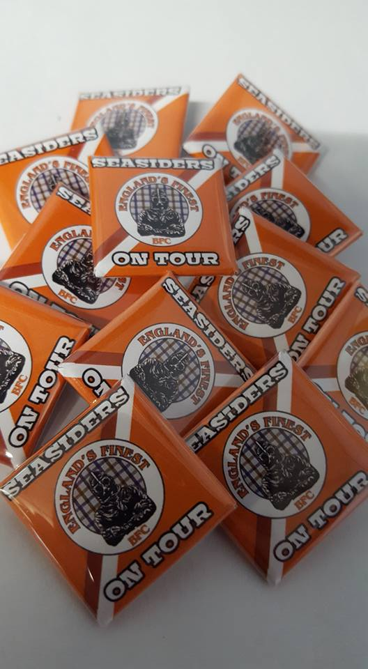 Blackpool Seasiders on Tour, Englands Finest Brand new 25mm Football Badges.