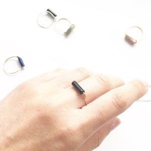 Image of Stone Bar Rings