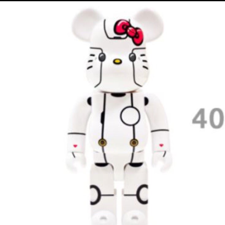 Image of Medicom Toy ROBOT KITTY Be@rbrick 400% (White)