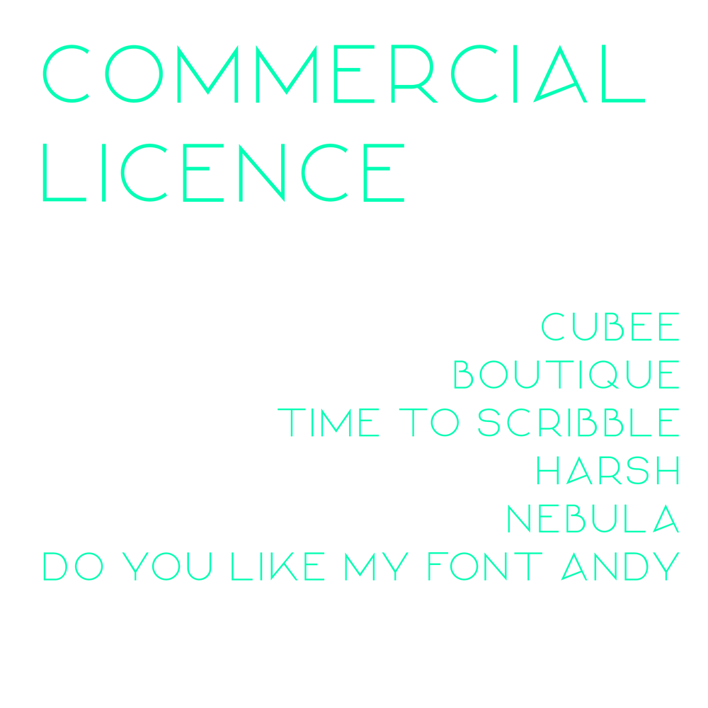 Image of Commercial Font Licence