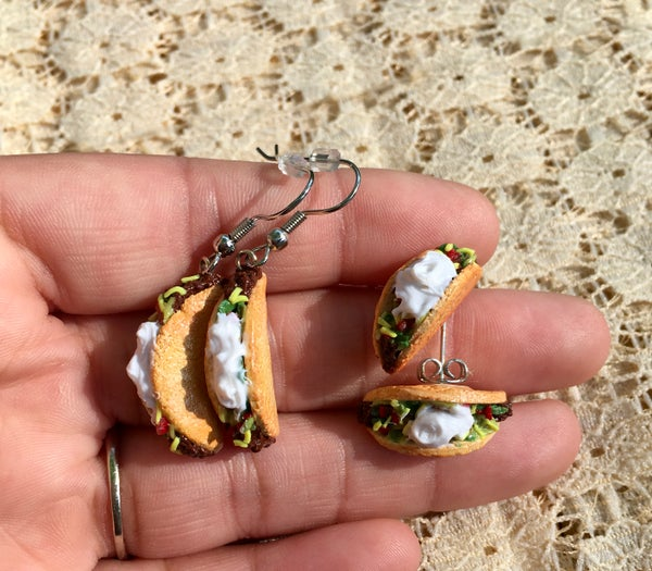 Image of Taco Earrings