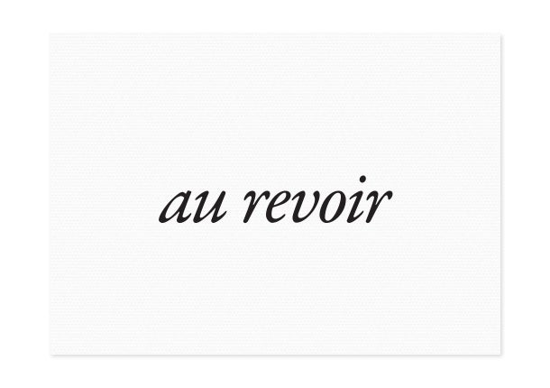 Image of au revoir | black