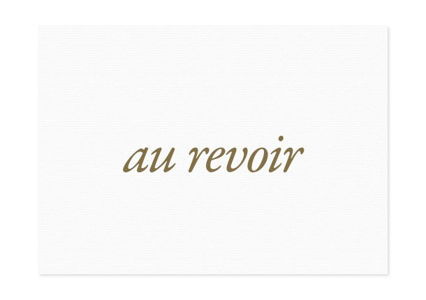Image of au revoir | gold