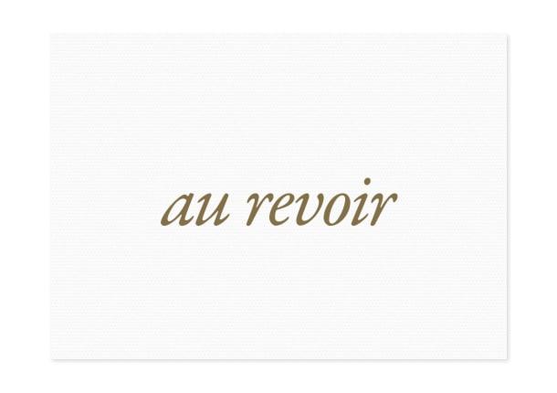 Image of au revoir | gold