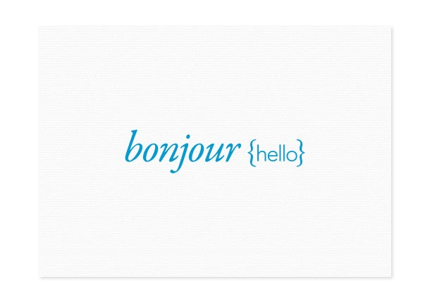 Image of bonjour {hello}