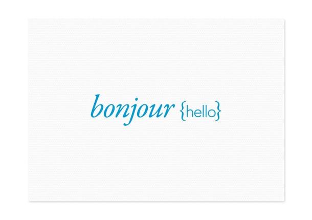 Image of bonjour {hello}