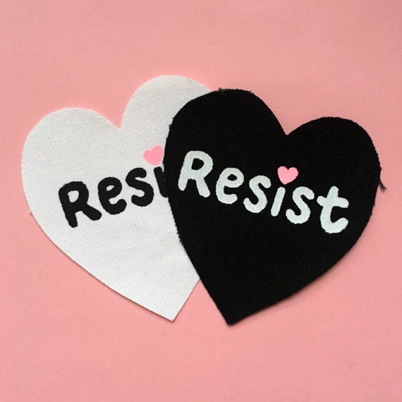 "Image of ""Resist"" Patch by Over It Studio"