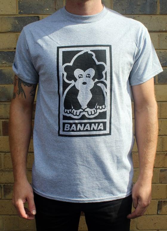 """Image of Malarkey """"Banana"""" Tee Grey"""