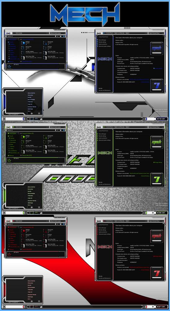 Image of Download Iron Man Rainmeter Theme For Windows 7