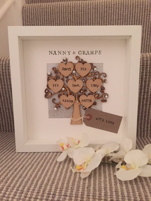 Personalised Family Tree Frame Moo Frames