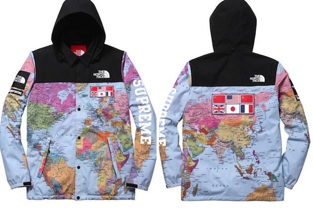 SUPREME X NORTH FACE Map Jacket | BUS¥N€$$