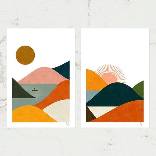 Image of Landscape Set of Two Prints