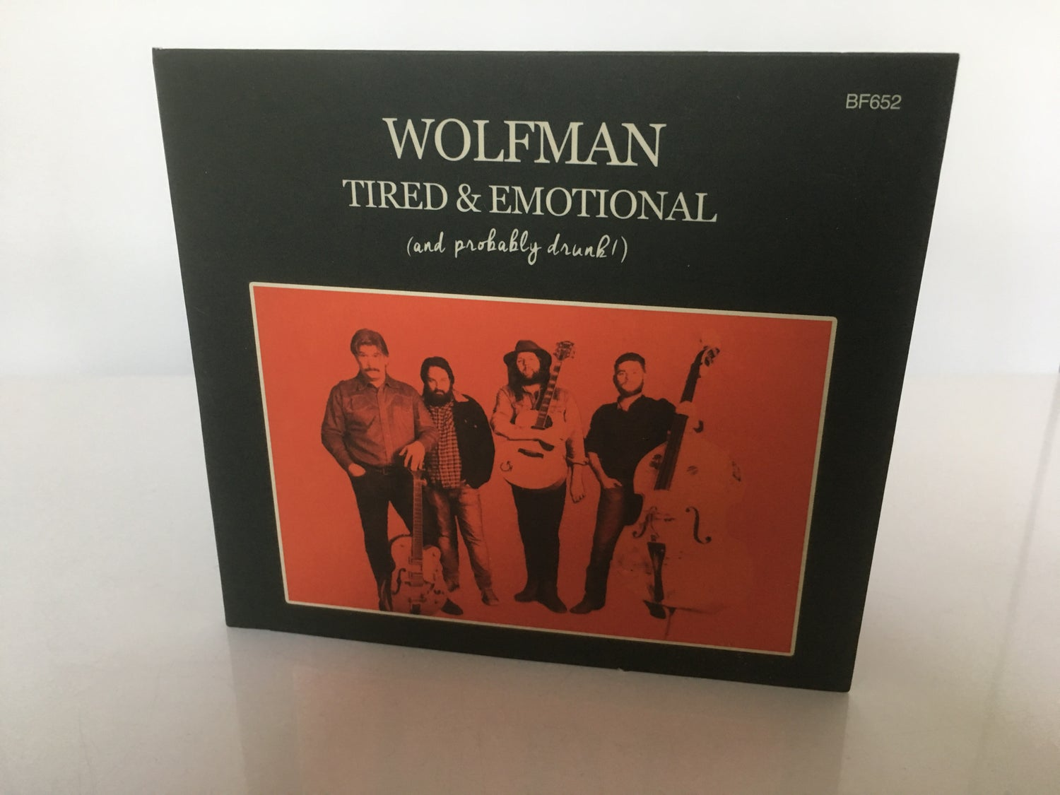 """Image of Wolfman CD """"Tired & Emotional"""" 2017 + Free Stickers!"""