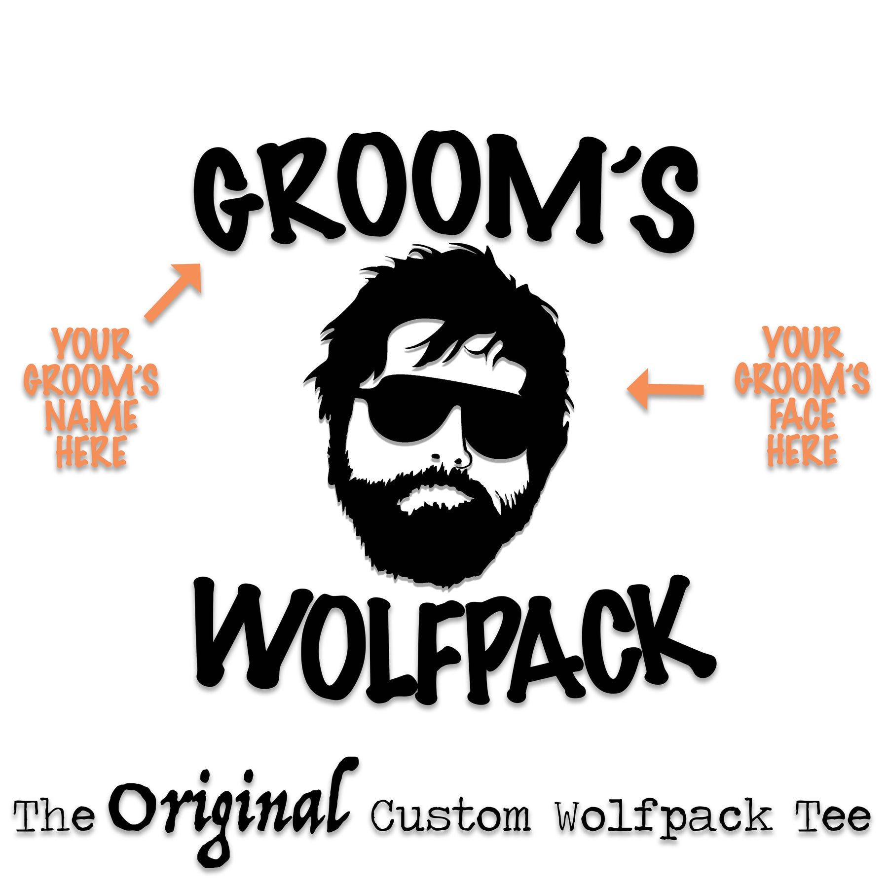 ae3982b191c77 Custom Wolfpack Bachelor Party Tees