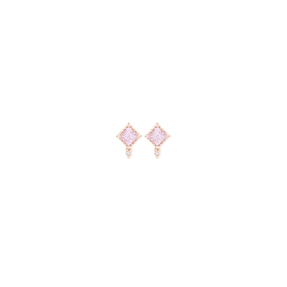 Image of Mini Pink Sappihre Stud