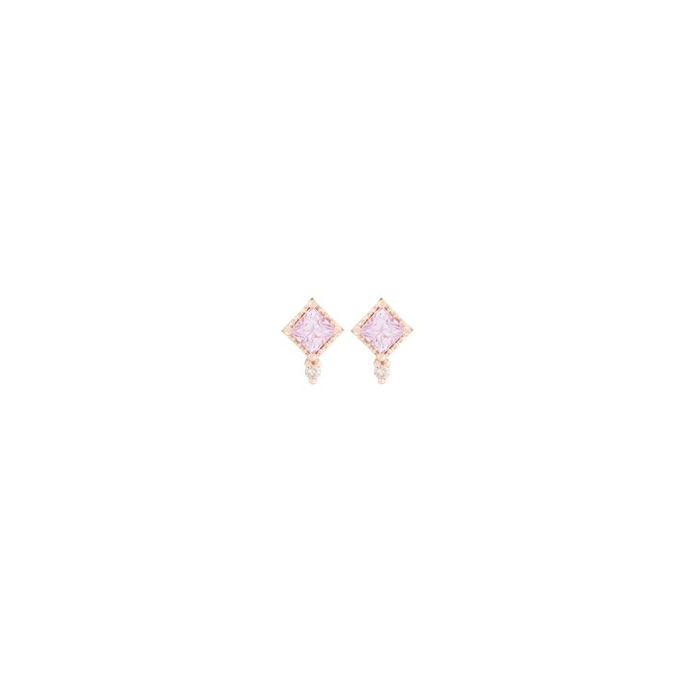 Image of Mini Pink Sappihre Stud
