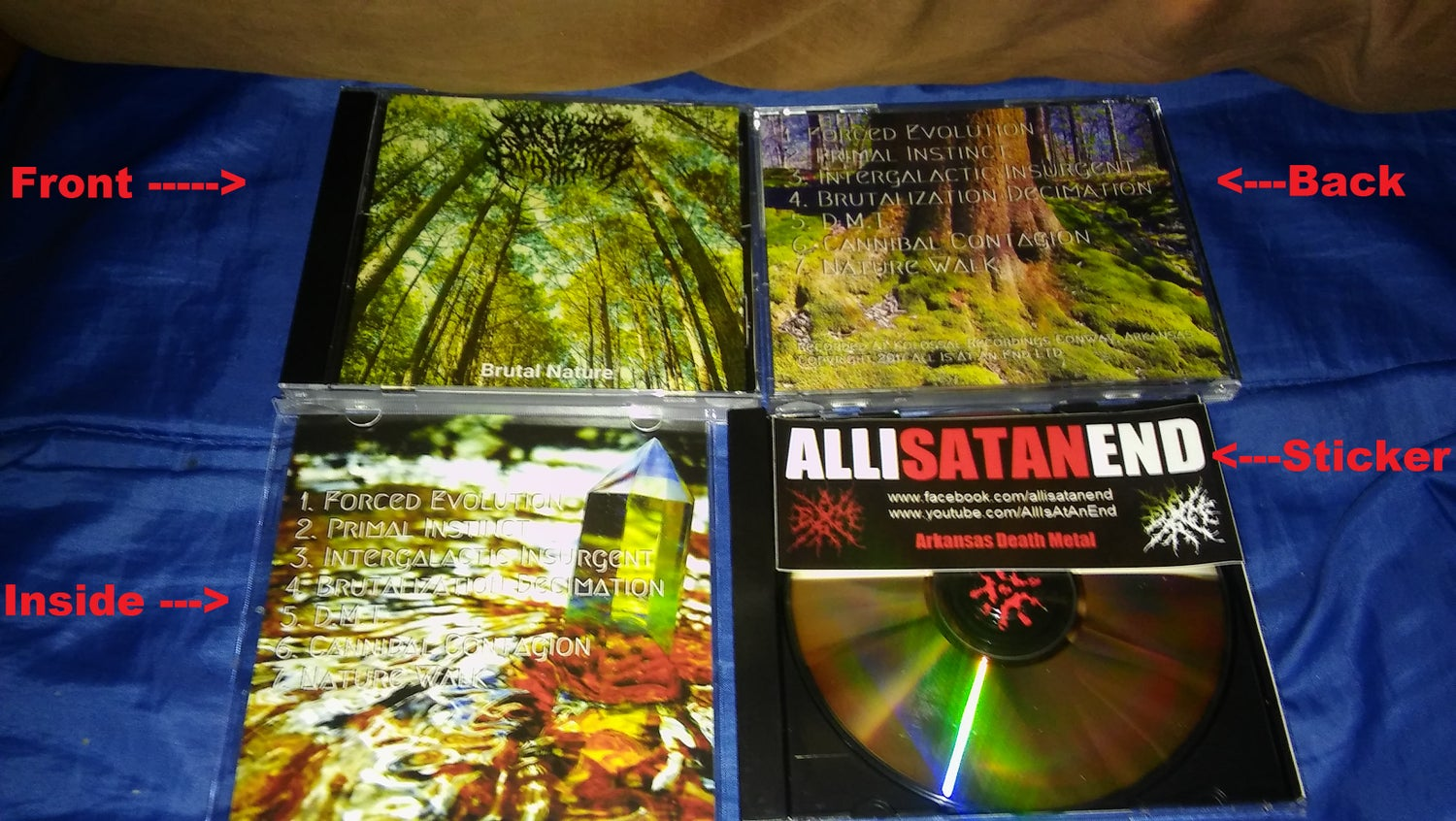 Image of All Is At An End Brutal Nature CD W/Sticker