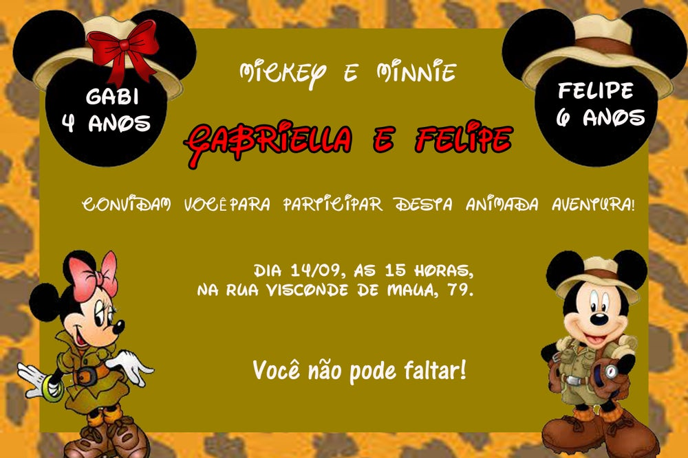 Image of Convite Da Minnie Para Download