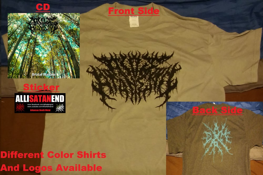 Image of All Is At An End Brutal Nature CD and Shirt Bundle