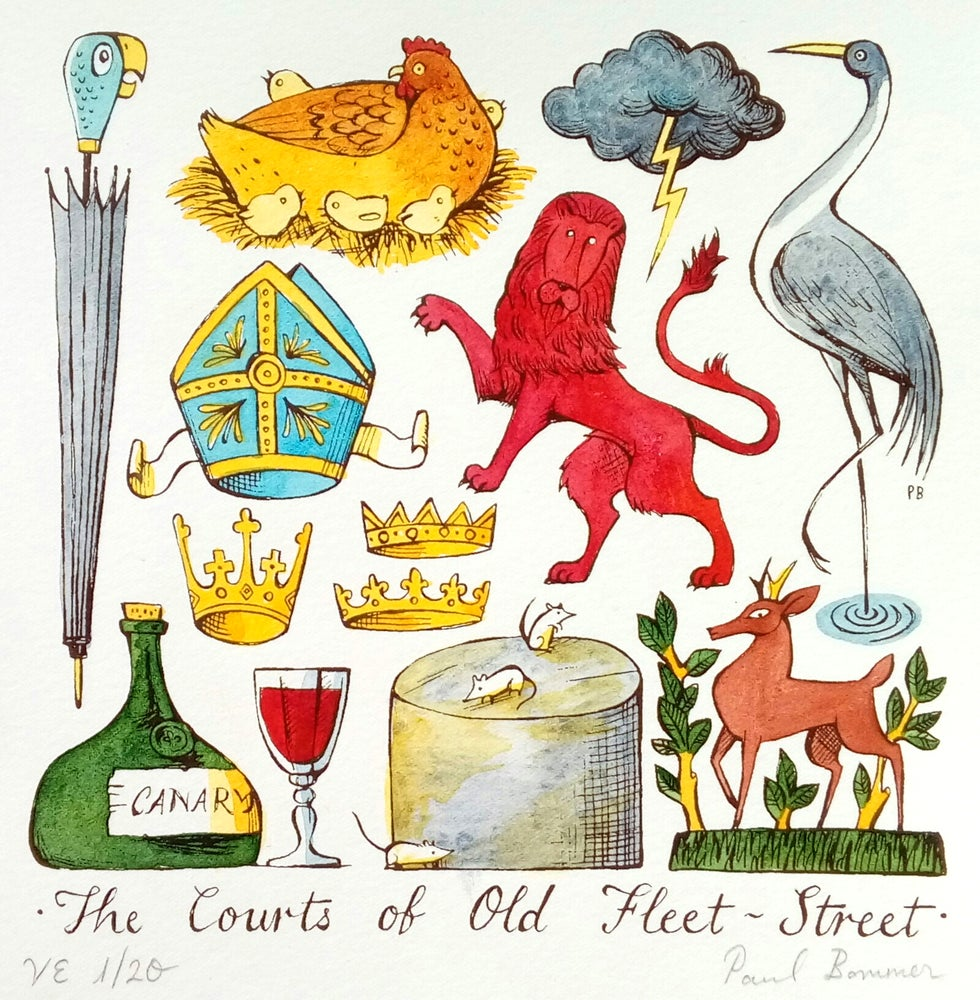 Image of The Courts of Old Fleet-Street