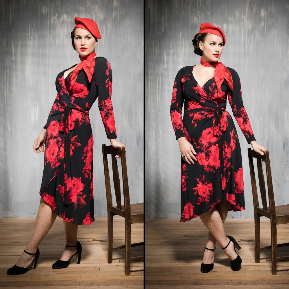 Image of HAYWORTH WRAP DRESS (other options available)