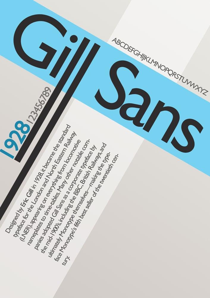 Image of Gill Sans Serif Font Download